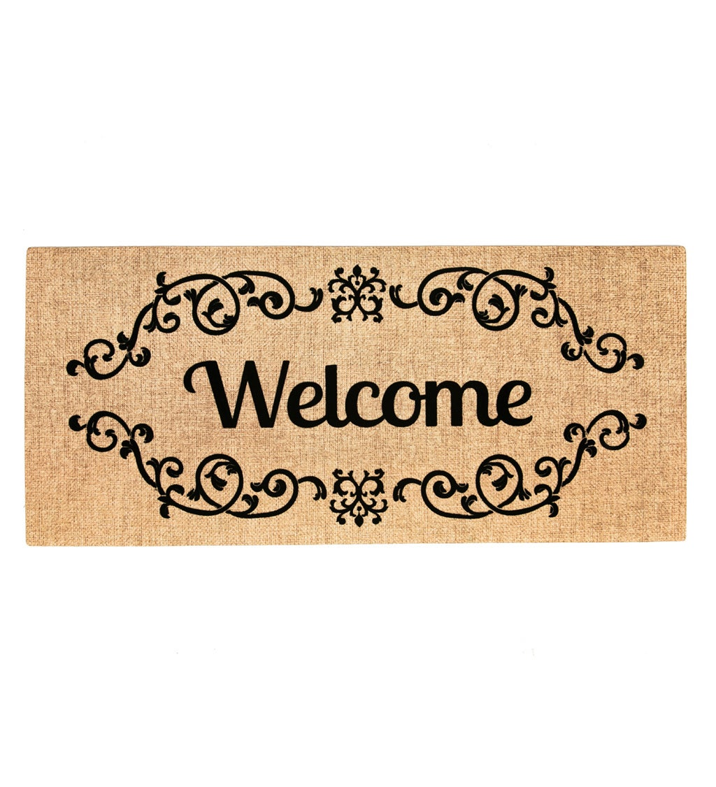 Decorative Welcome Scroll Sassafras Switch Mat