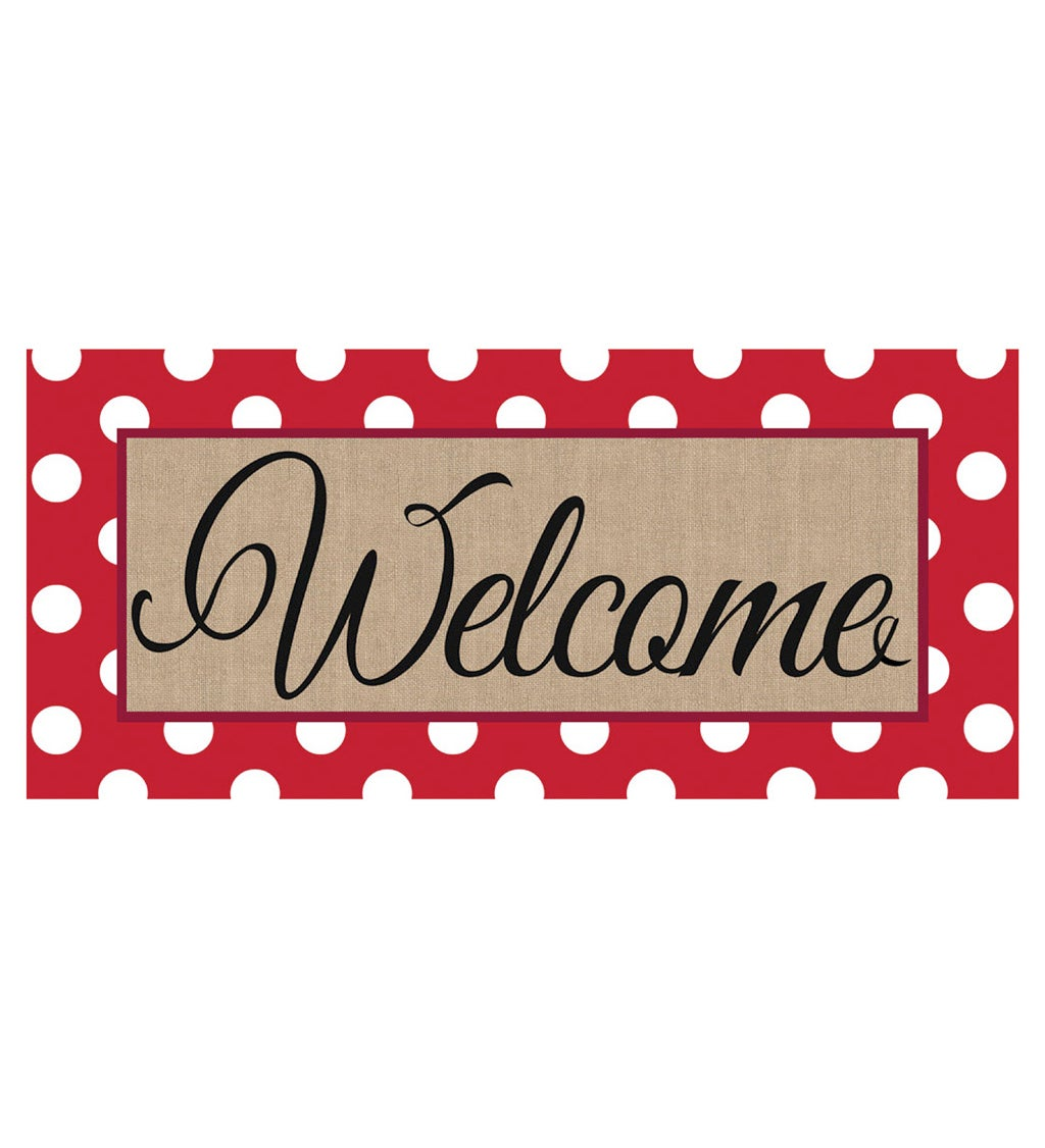 Polka Dot Welcome Sassafras Decorative Switch Mat