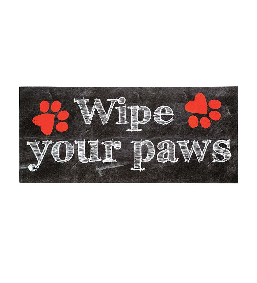 Wipe Your Paws Sassafras Decorative Doormat Insert