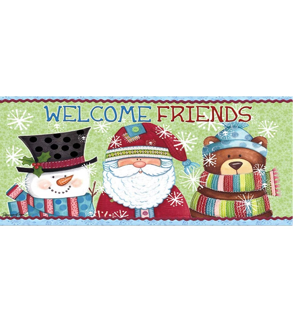 Welcome Holiday Friends Sassafras Decorative Doormat Insert