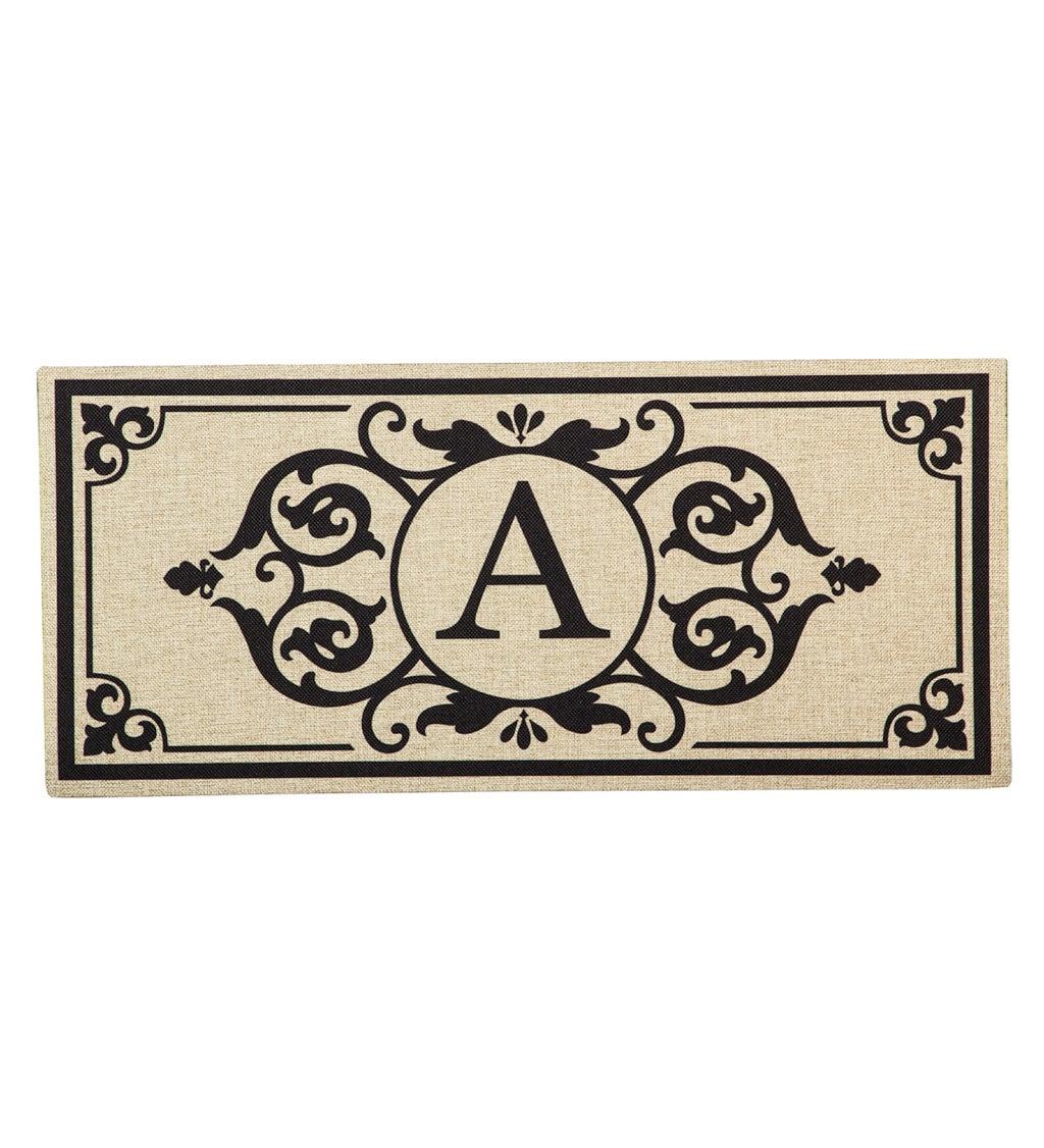 Cambridge Monogram Burlap Sassafras Switch Mat, Letter A