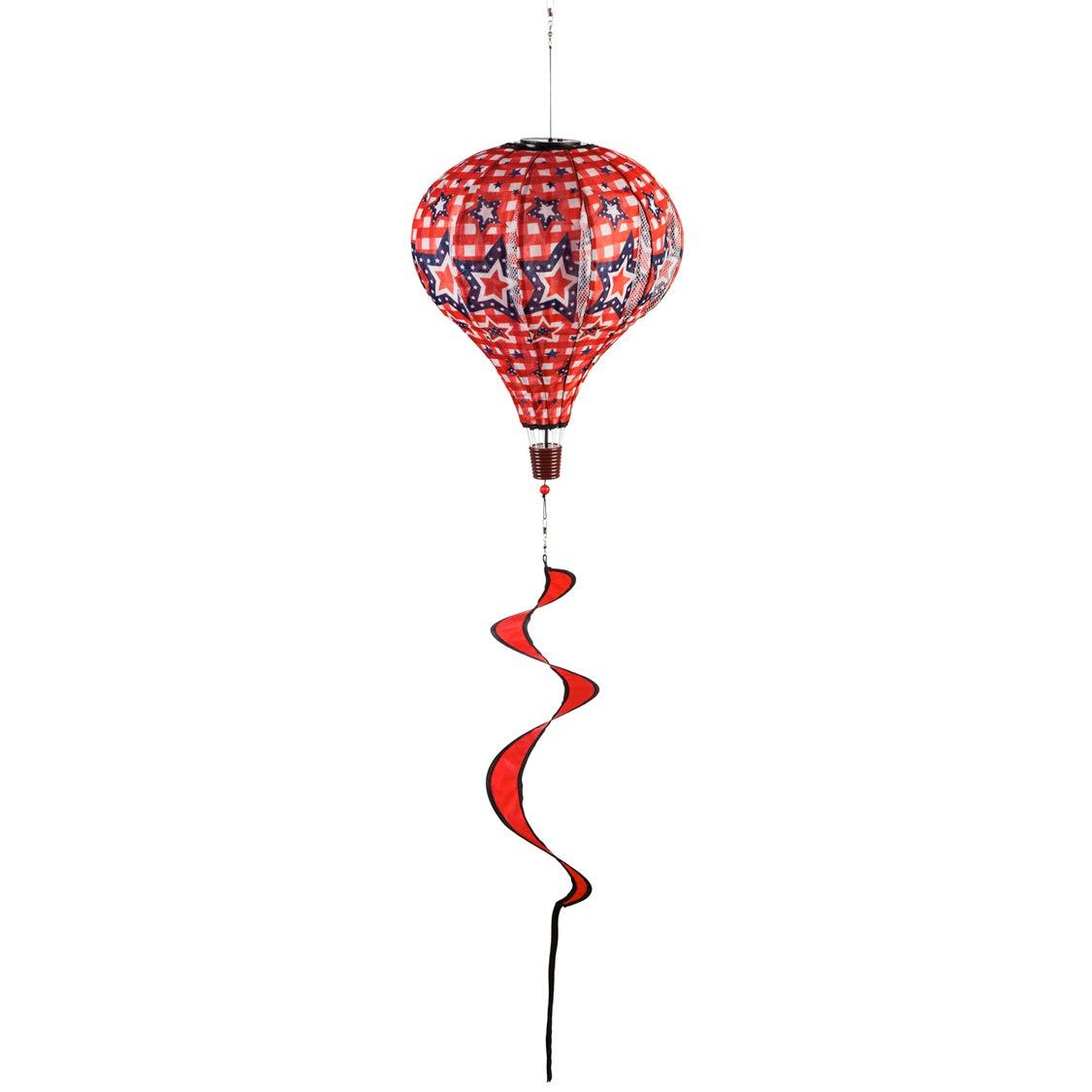 Stars and Plaid Solar Balloon Spinner