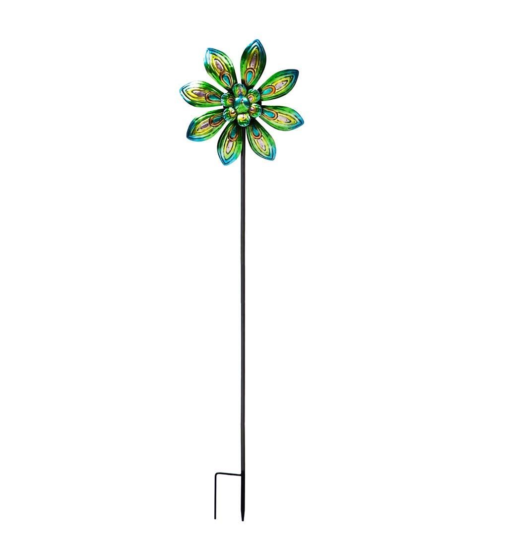 Peacock Kinetic Wind Spinner