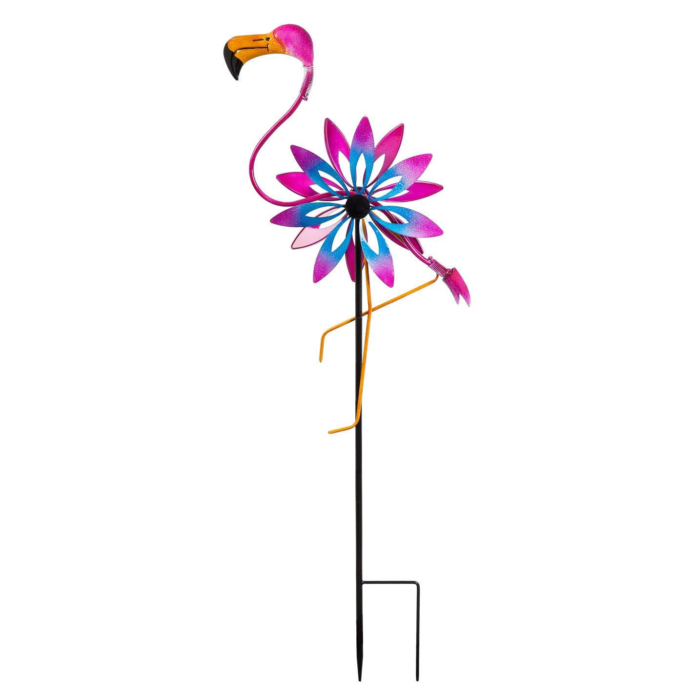 Flamingo Kinetic Wind Spinner