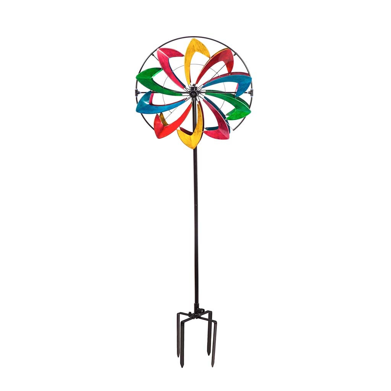 "Multicolor 75"" Metal Hydro Wind Spinner"