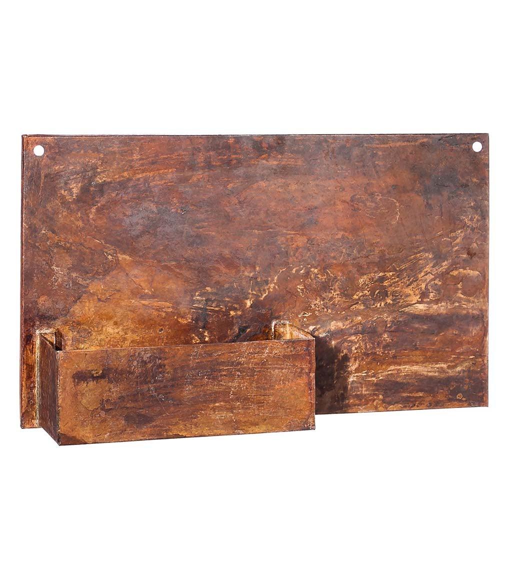 Rust Dunes Rectangular Metal Wall Planter