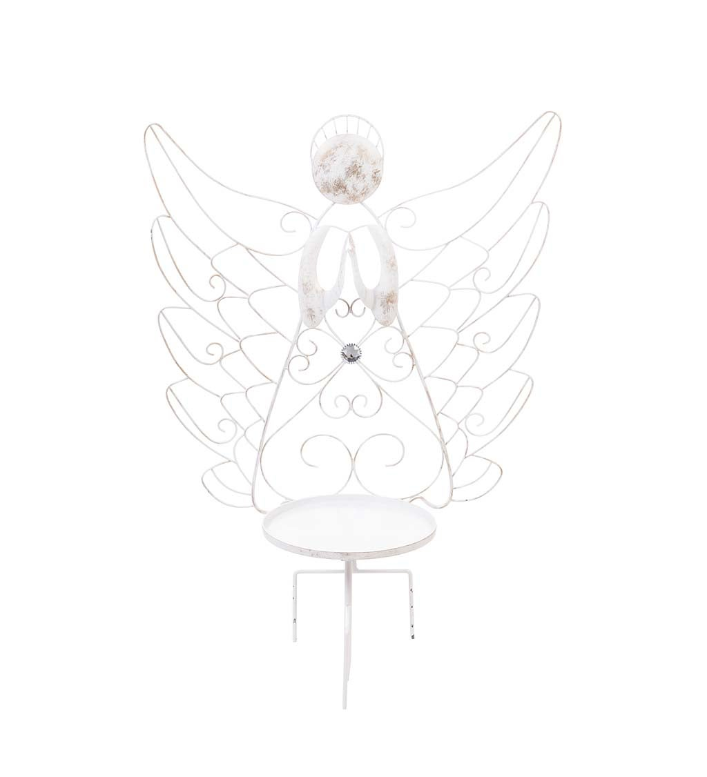 White Angel Metal Plant Stand