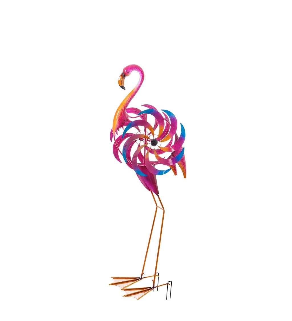 Statement Flamingo Wind Spinner