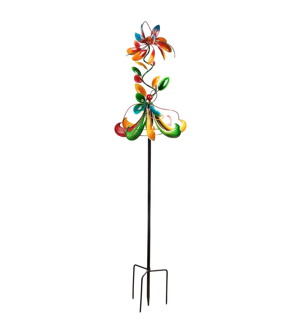"""80.75""""H Creative Wind Spinner, Primary Colors"""
