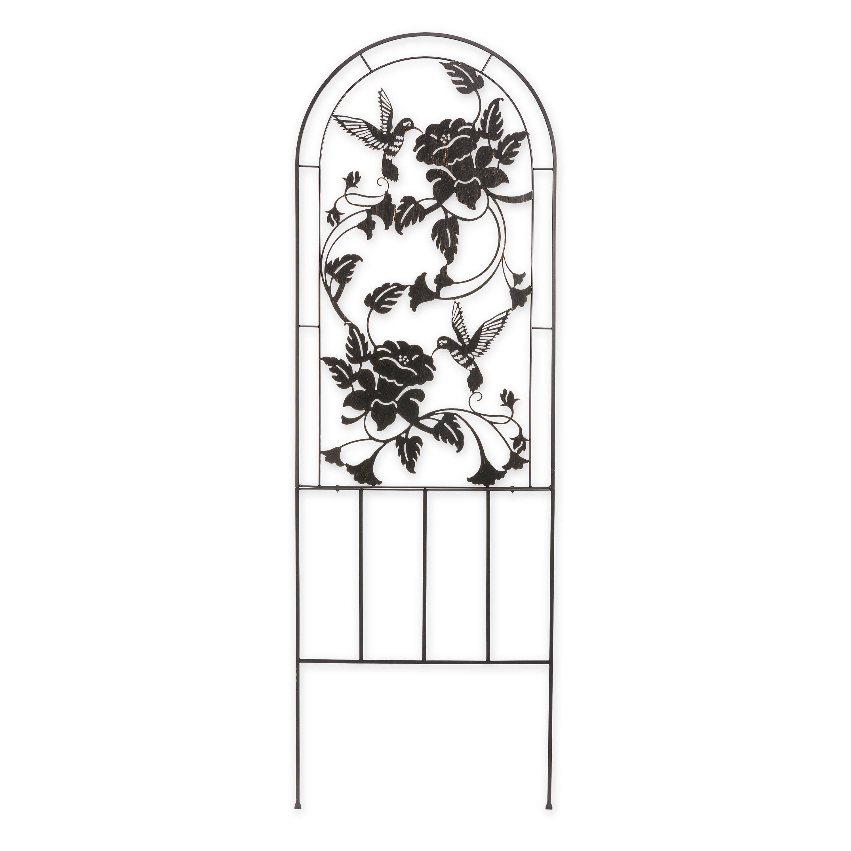 Metal Garden Hummingbird Trellis