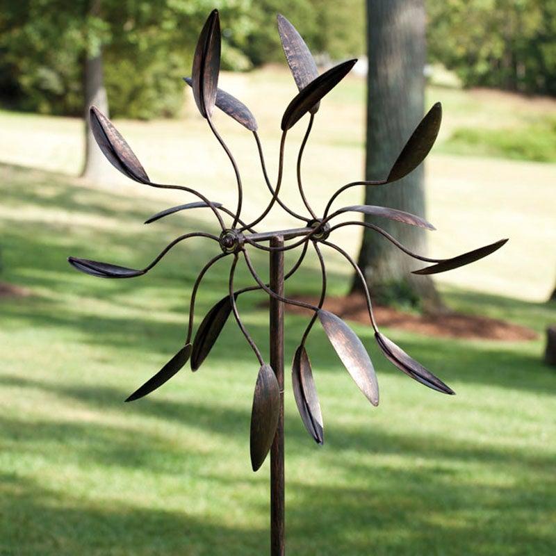 Twirler Metal Kinetic Garden Wind Spinner