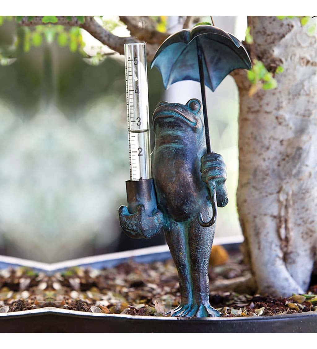 Decorative rain gauge, Frog