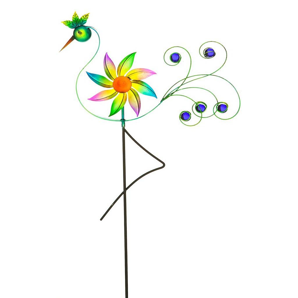 Cheerful Summer Days Bird of Paradise Windspinner Garden Stake