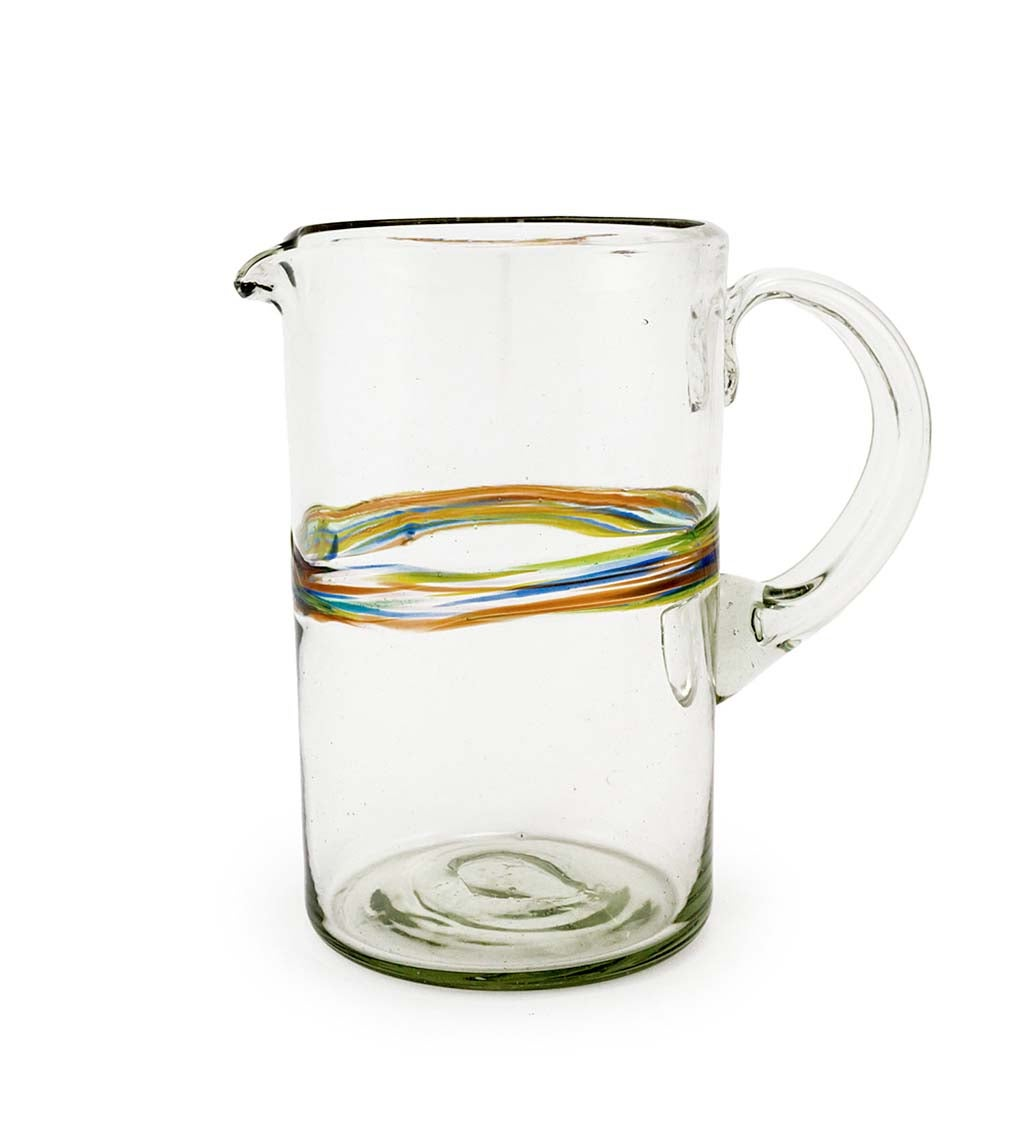 Rainbow Recycled Glass Pitcher
