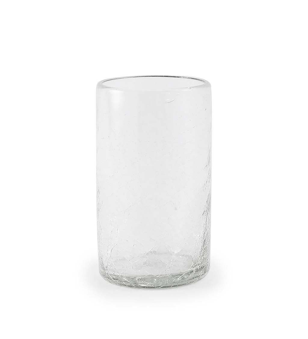 Maya Clear Recycled Glass Small Vase