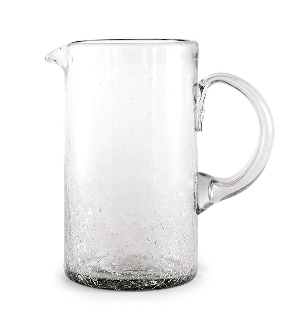 Maya Clear Recycled Glass Pitcher