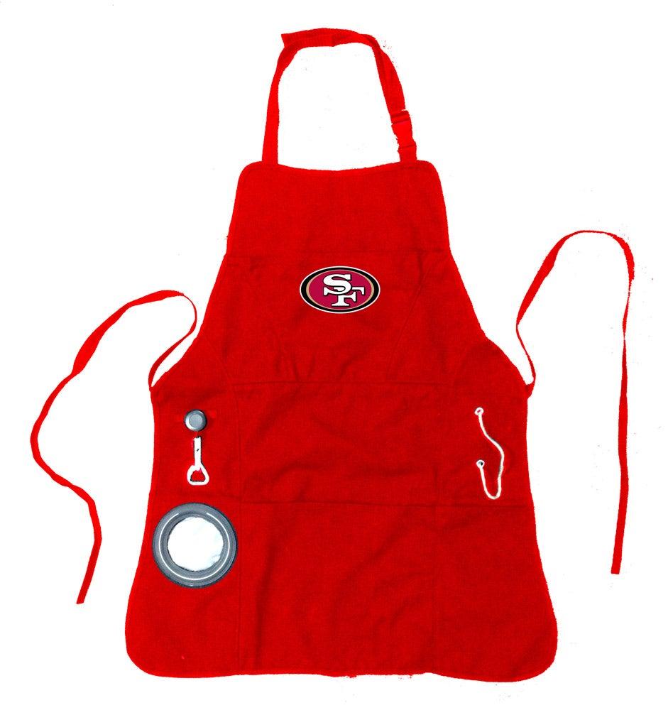 San Francisco 49ers Logo Mens Grilling Utility Apron
