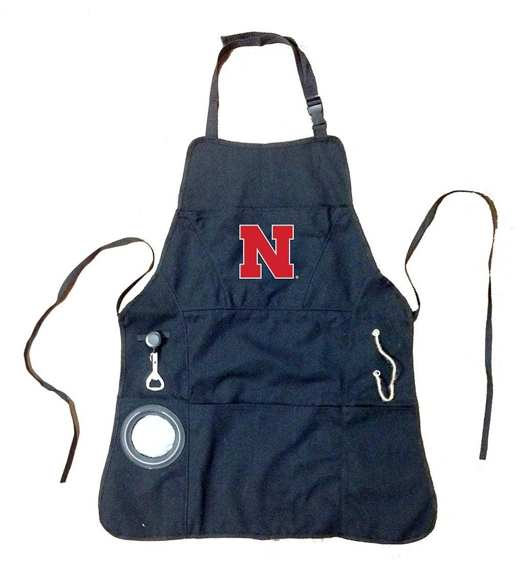 Team Sports America Nebraska Huskers Logo Grilling Utility Apron
