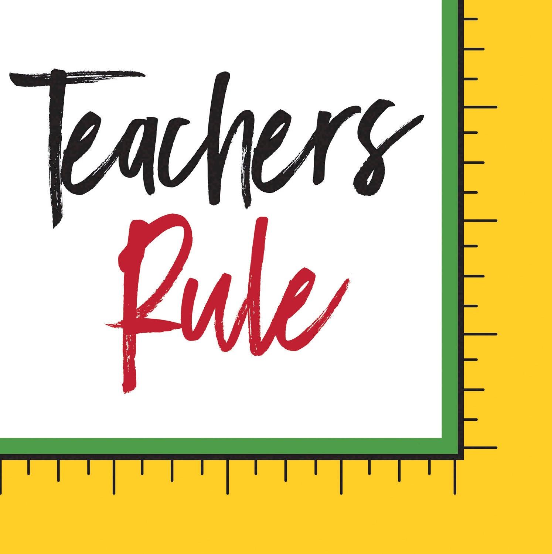 Teachers Rule Paper Cocktail Napkins, 20 count
