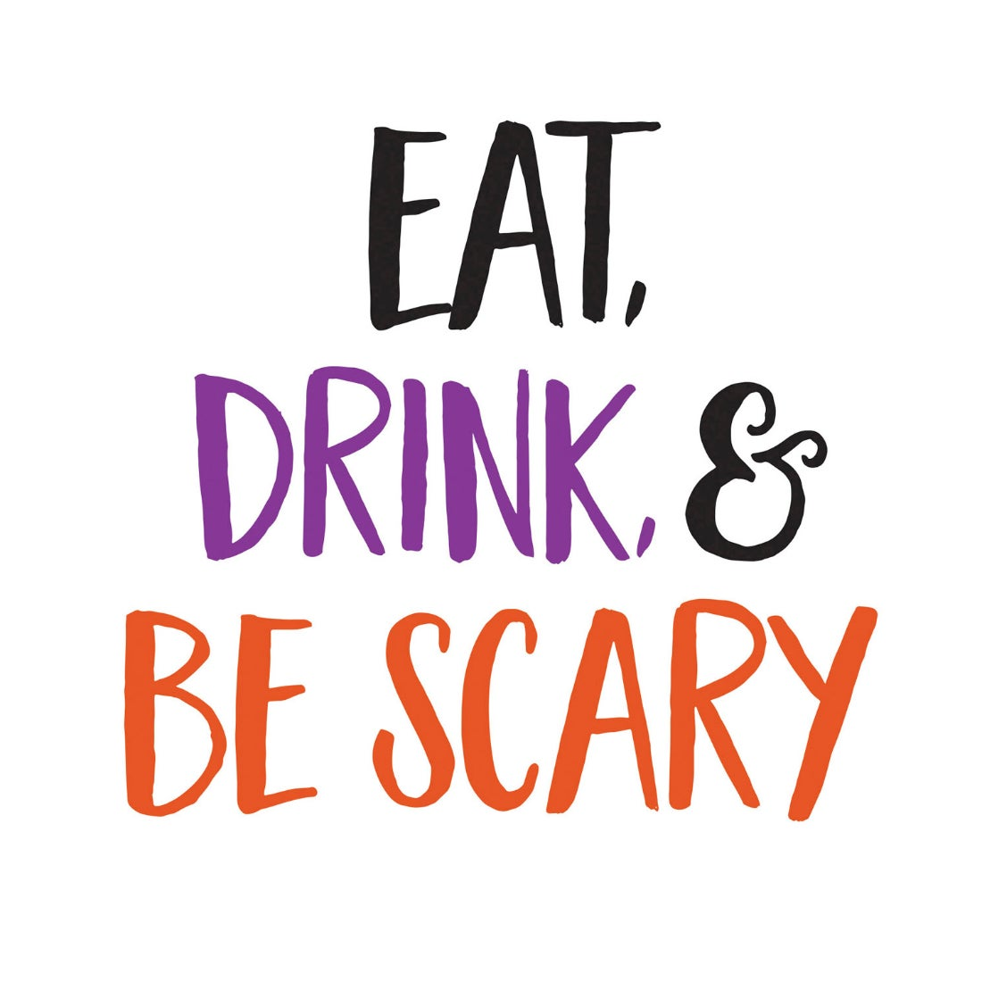 Eat, Drink, and Be Scary Paper Cocktail Napkins, 20 count