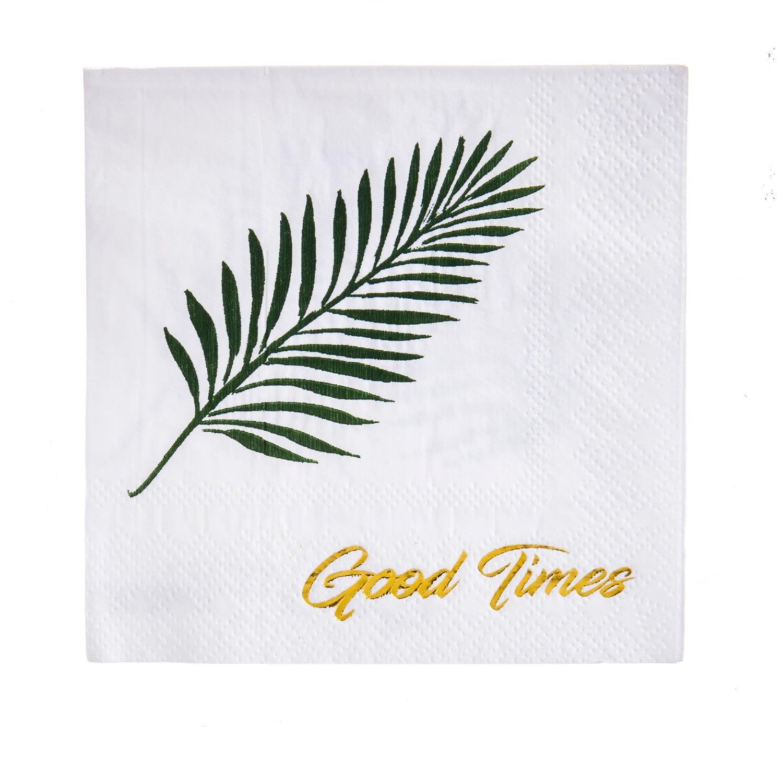 Good Times Foil Paper Cocktail Napkins, 20 count