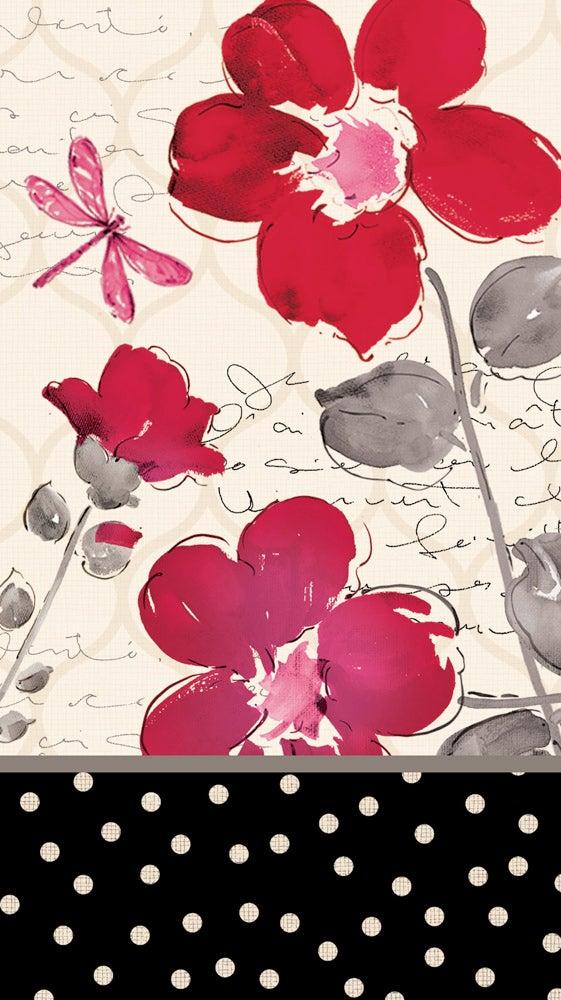 Floral Symphony Paper Guest Towel, 15 Count