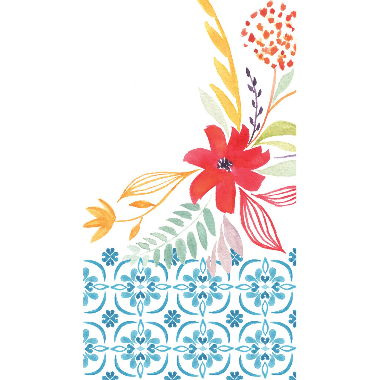 Watercolor Floral Guest Paper Towels, 15 count