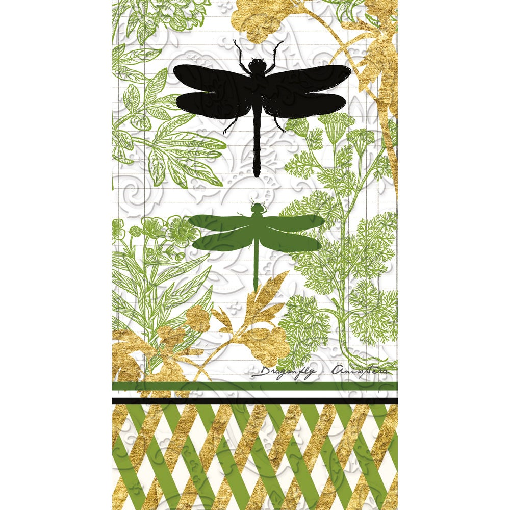Embossed Garden Botanical Guest Paper Towels, 15 Count