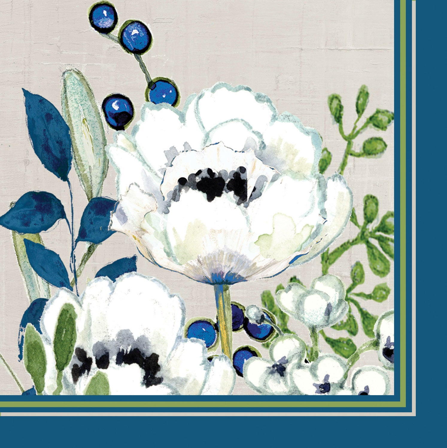 Floral Paper Luncheon Napkins