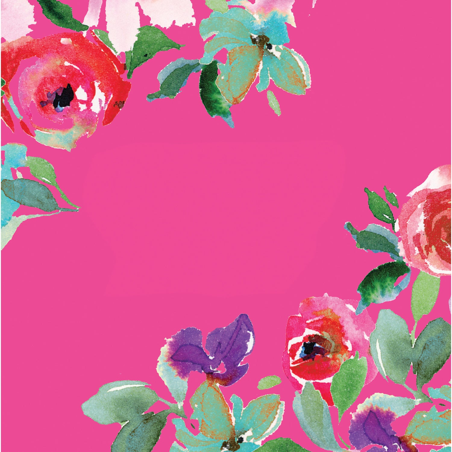 Boho Floral Party Paper Luncheon Napkins, 20 count