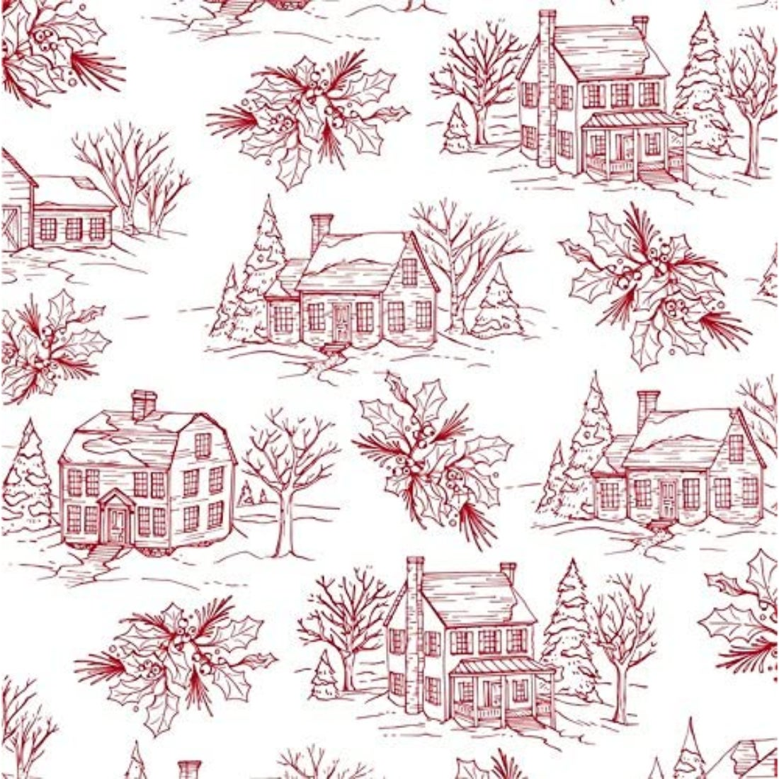 Holiday Farmhouse Paper Luncheon Napkins, 20 count