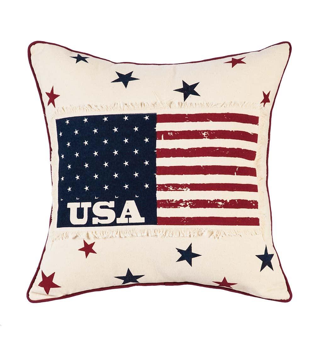 "18"" Americana Patchwork Pillow"
