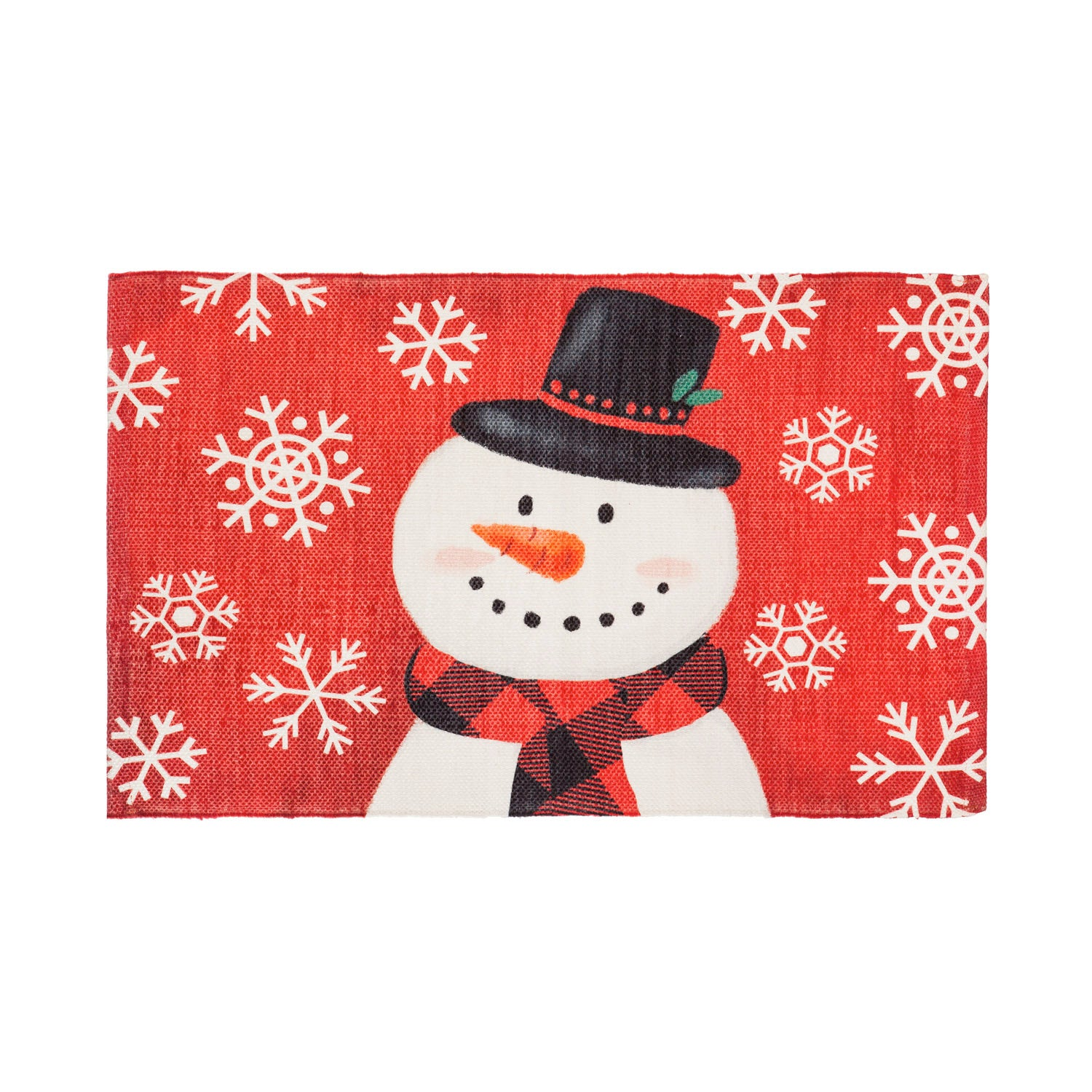 """30"""" x 20"""" Snowman Scatter Rug"""