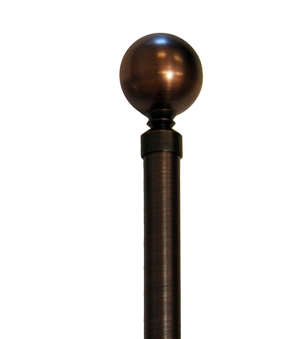 "48""W-86""W Lexington Rod Set, in Bronze"