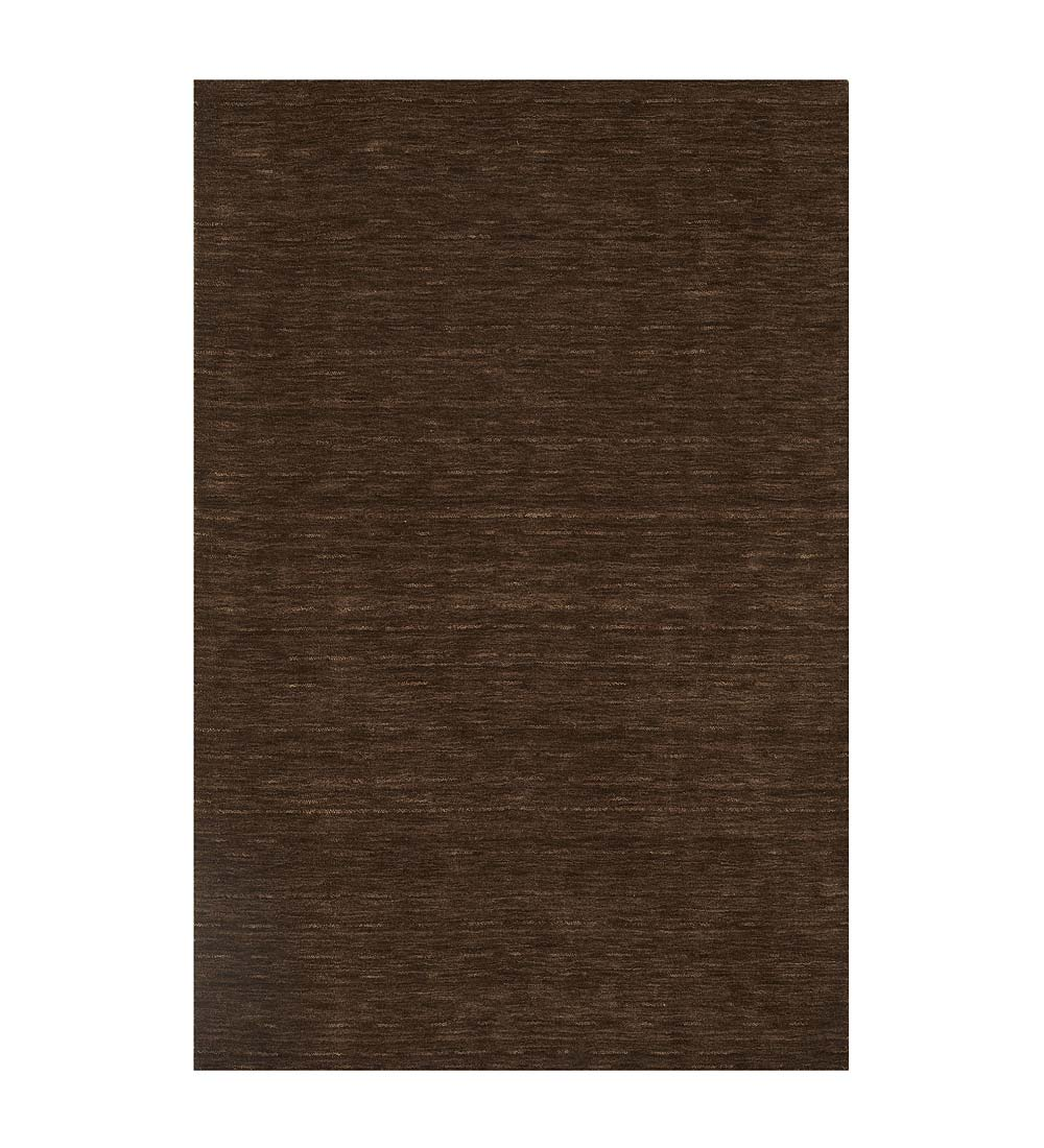 8' x 10' Santa Clara Wool Rug, in Chocolate