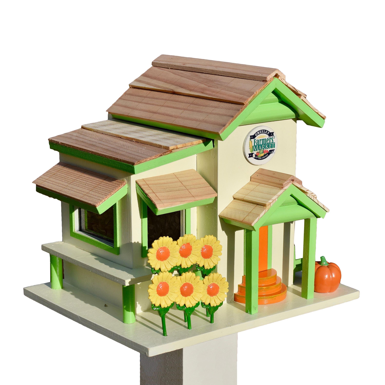 Farm Stand Birdhouse with Seasonal Accessories
