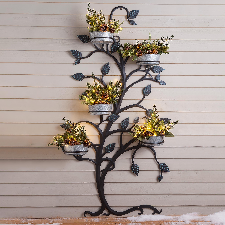 Hanging Tree Trellis with Pot Holders