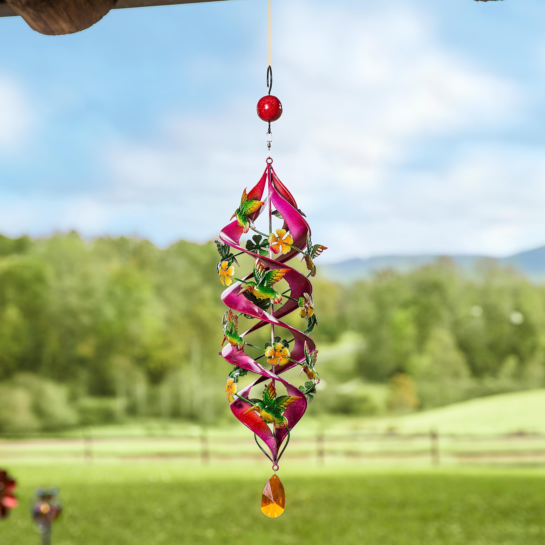 Hummingbird Hanging Helix Swirl Spinner