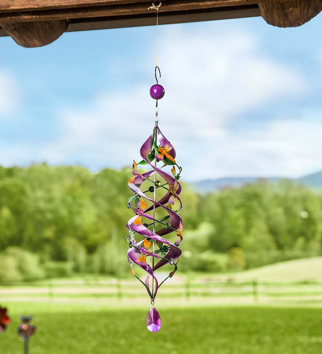 Dragonfly Hanging Helix Swirl Spinner