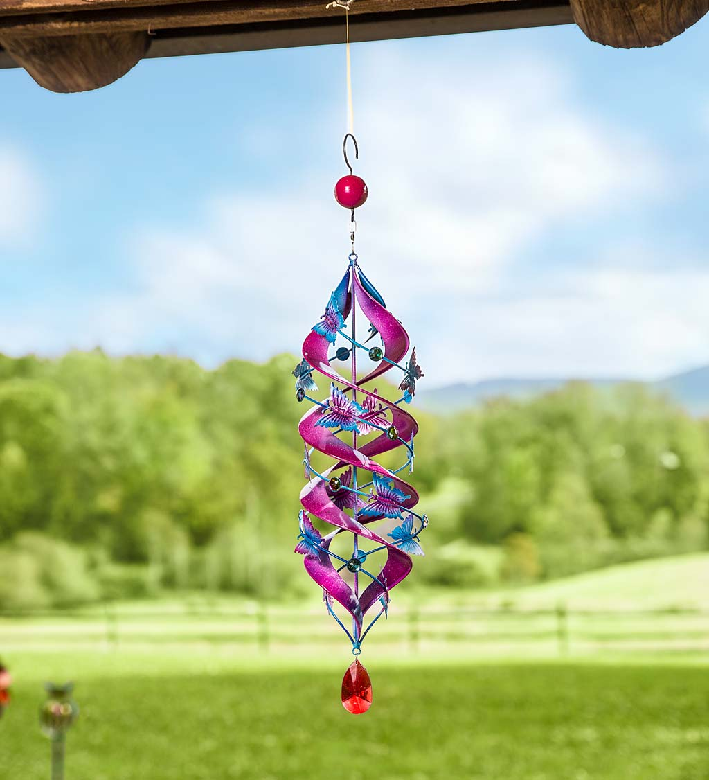 Butterfly Hanging Helix Swirl Spinner
