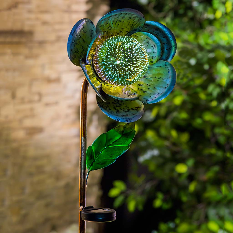 Solar Pansy Garden Stake