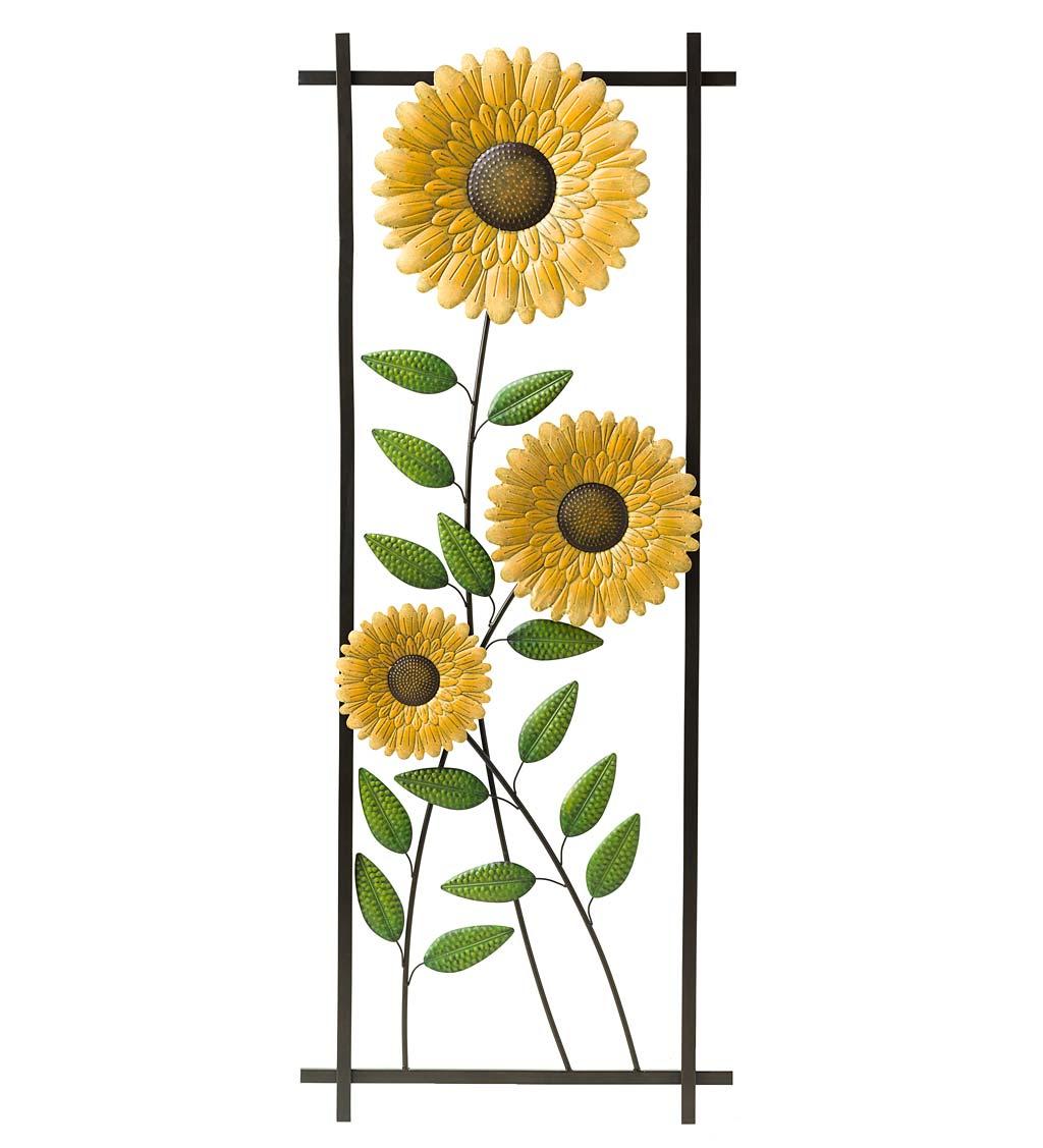 Sunflower Garden Metal Trellis/Wall Art
