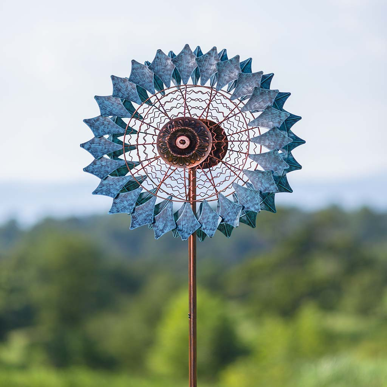Verdigris Prism Wind Spinner