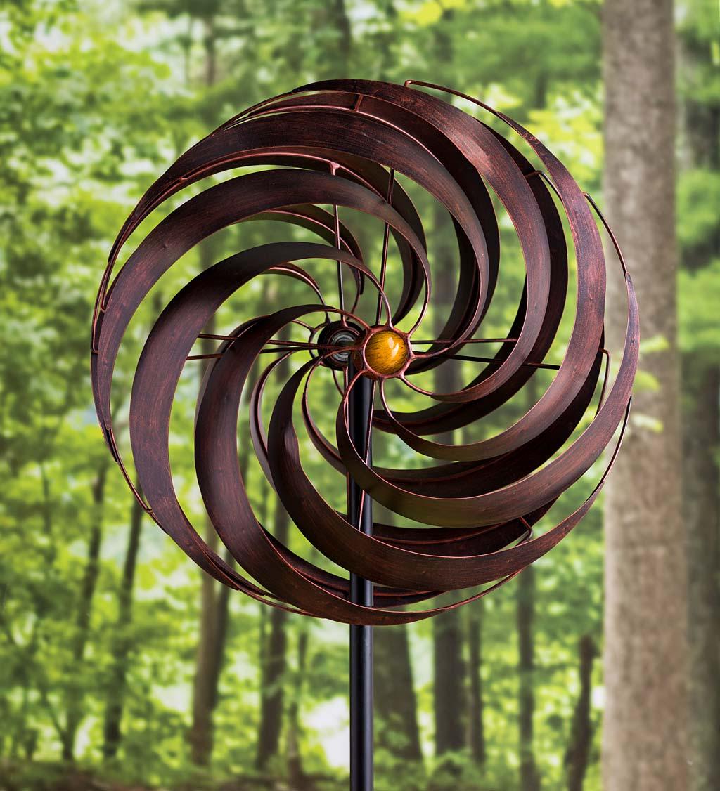 Copper Vortex Metal Wind Spinner