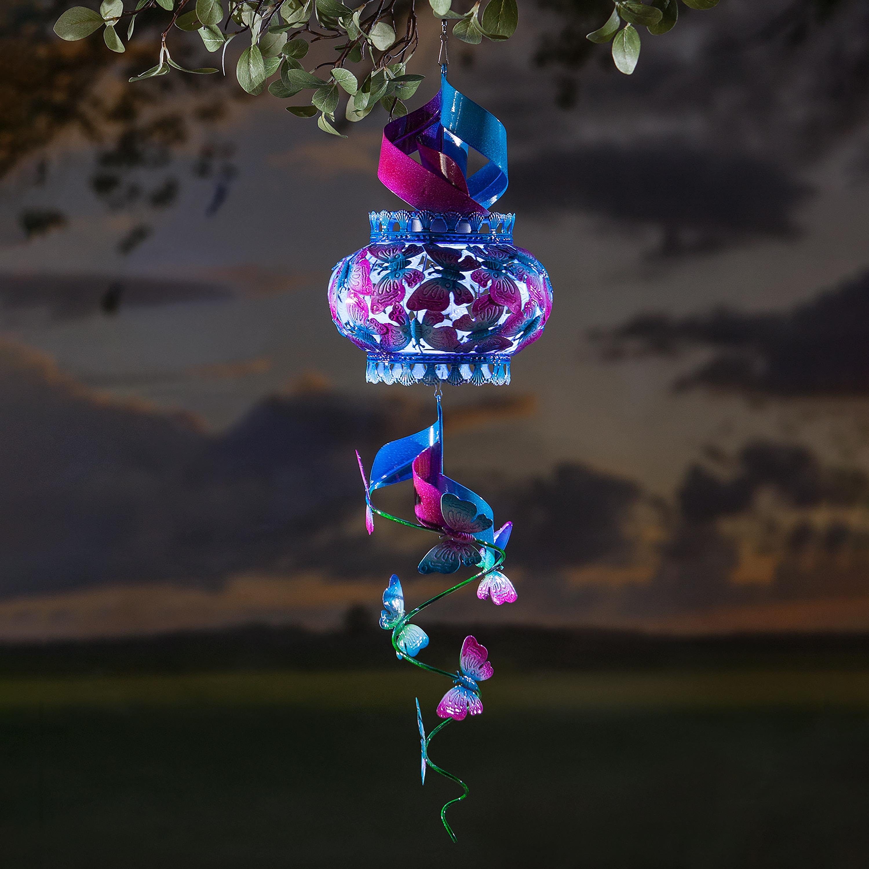 Solar Hanging Swirl Spinner/Lantern