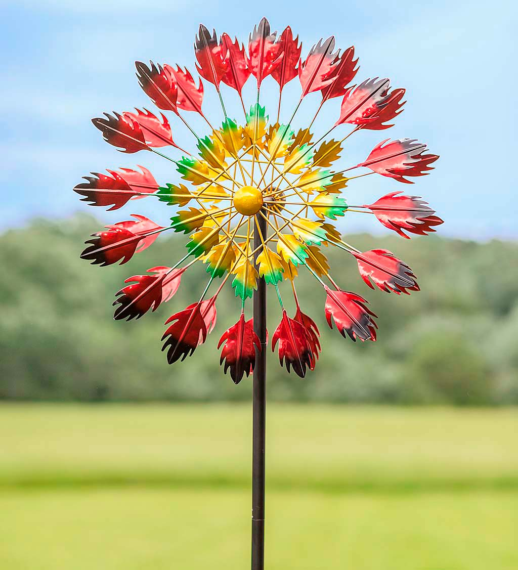 Red Feather Wind Spinner