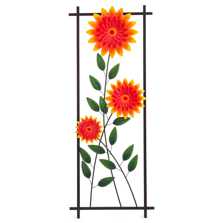 Chrysanthemum Garden Metal Trellis/Wall Art