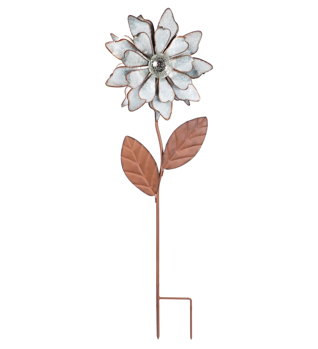 Glow in the Dark Lily Metal Garden Stake