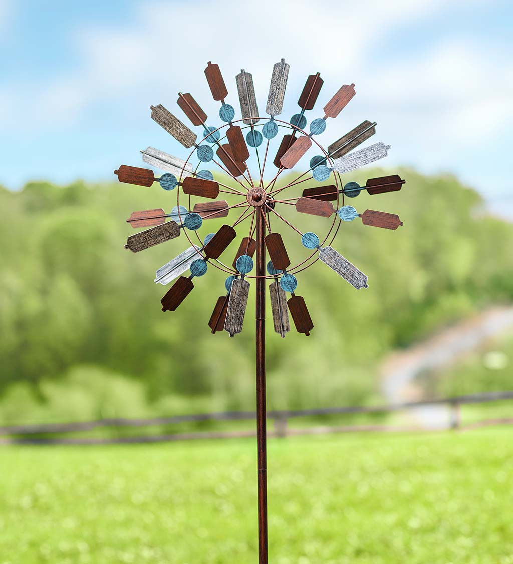Tri-Color Tranquility Metal Wind Spinner