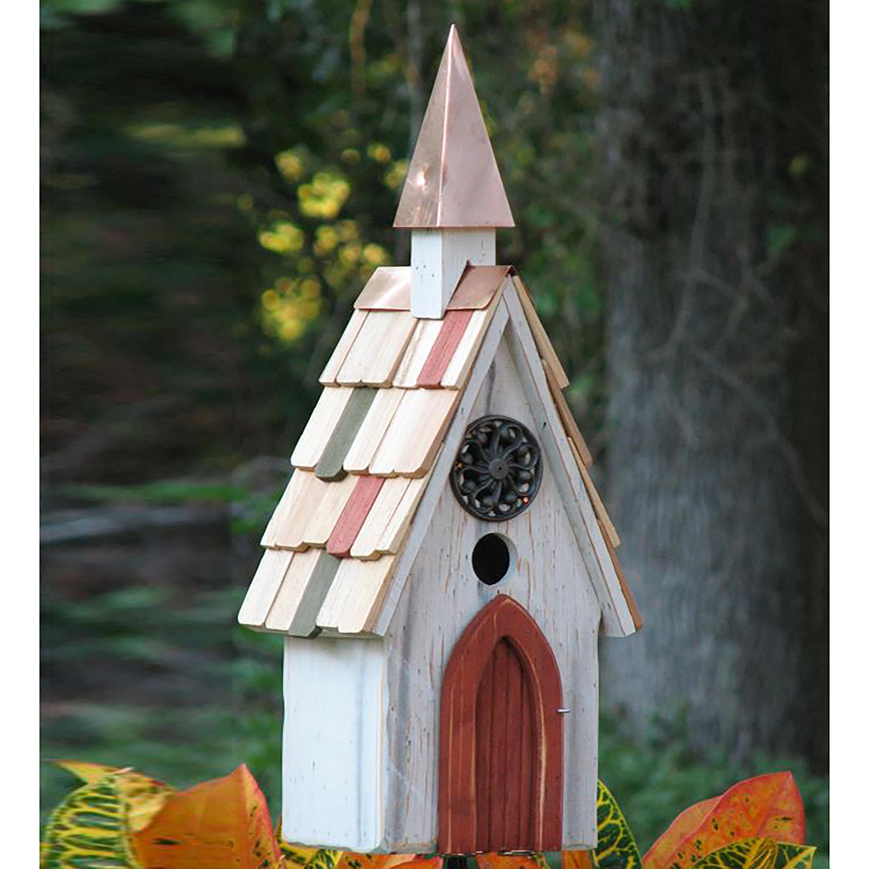 Jubilee A-Line Birdhouse with Copper Steeple